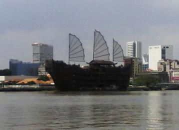 The secretary spied this dubious looking<br /> vessel/restaurant under construction in<br />Vietnam