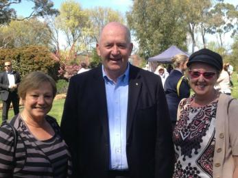 Jenny and Lyn rub shoulders with Governor General, Peter Cosgrove, while boys compete on Lake Burley Griffin at ACT State ff championshi