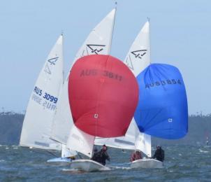 A brisk wind challenges the fleet on 30 November LBB race